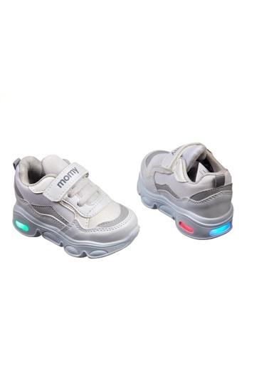 Momykids Spor Ayakkabı Beyaz Anatomik Çocuk Işıklı J50101 Poky Beyaz